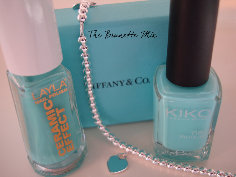 Tiffany bracelet and nailpolish