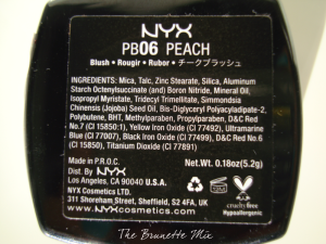 NYX blush Peach back