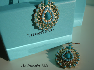 orecchini color Tiffany