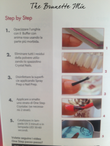 Crystal Nails One Step brochure