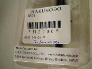 Hakuhodo G521 label