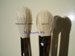 Mac217 vs J5533BKSL bristles