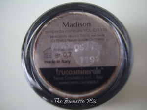 Neve Cosmetics - ombretto Madison