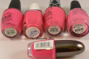 pink polishes cream details