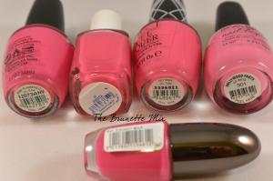 pink polishes cream details