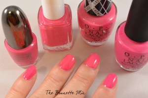 pink polishes swatch