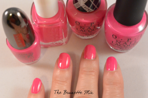 pink polishes swatches