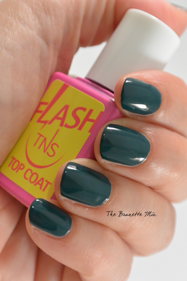 TNS nail polish 411 + Flash top coat