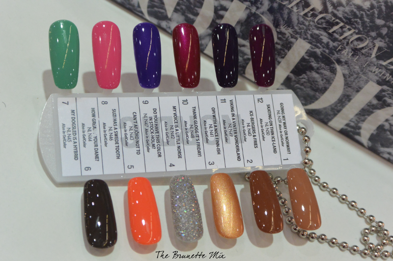 OPI Nordic swatches