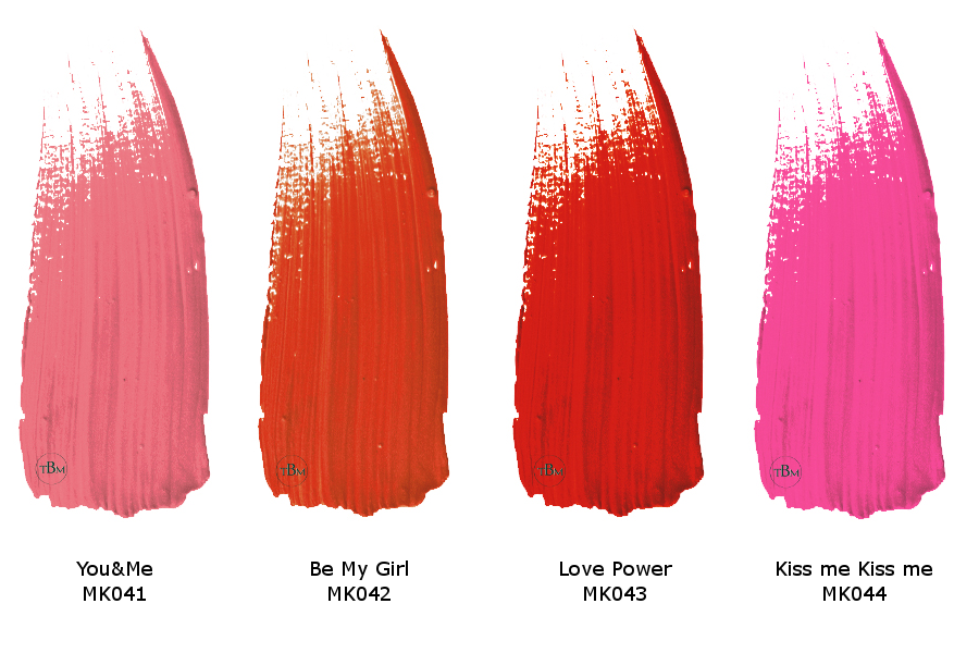 TNS Love Power lipstick swatches