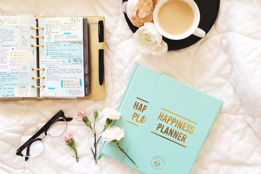 The Happiness Planner aqua
