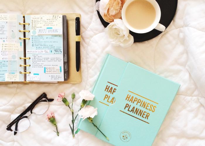 The Happiness Planner aqua